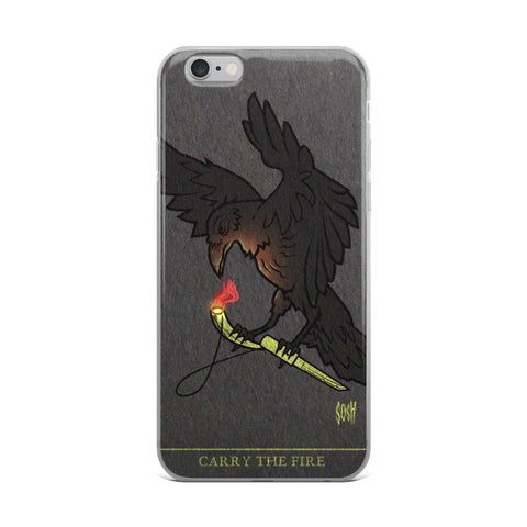 """Raven Carrying the Fire"" iPhone Case"
