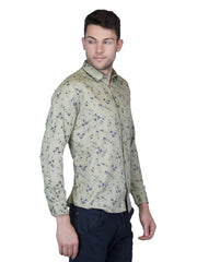 Mens Printed Slim Fit Formal Shirt - LONDON