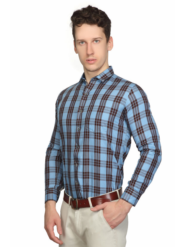 Checkered  Slim Fit Formal Shirt - 270119