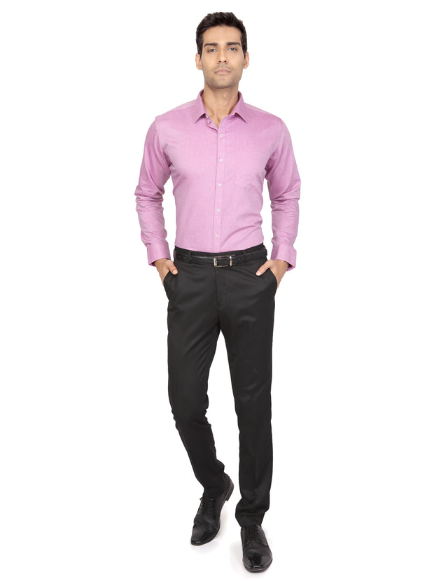 Solid Slim Fit Formal Shirt - Citrus