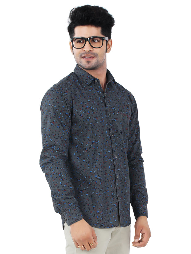 Printed Slim Fit Casual Shirt - 1270
