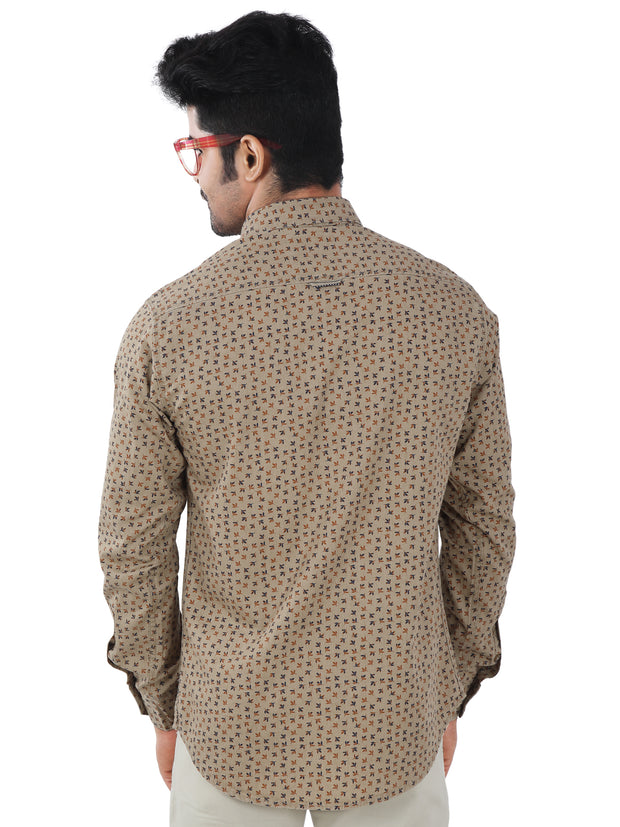 Printed Slim Fit Casual Shirt - 1271