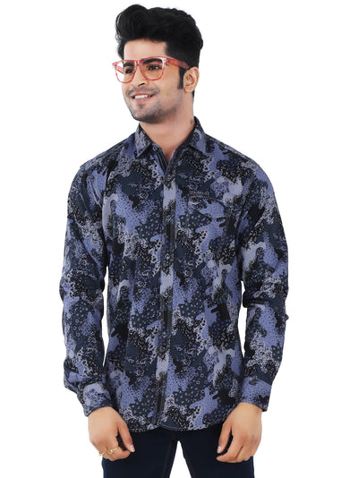 Printed Slim Fit Casual Shirt - 1265