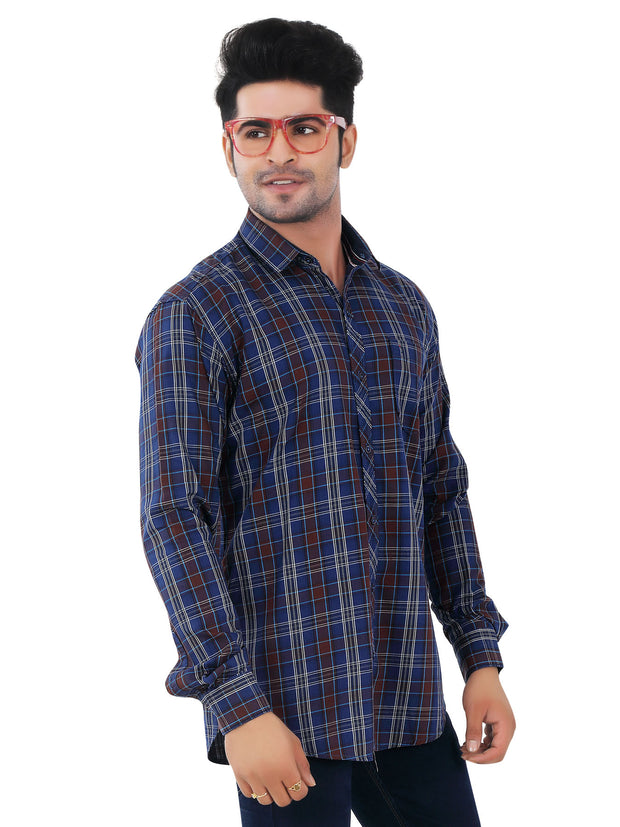 Checkered Slim Fit Casual Shirt - 1305
