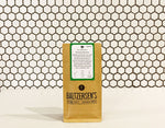 A 50g bag of Chinese Sencha green tea available at Baltzersen's in Harrogate