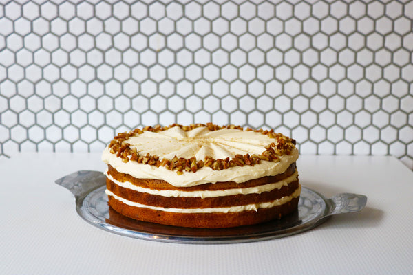 Coffee, Cardamom and Pecan Cake