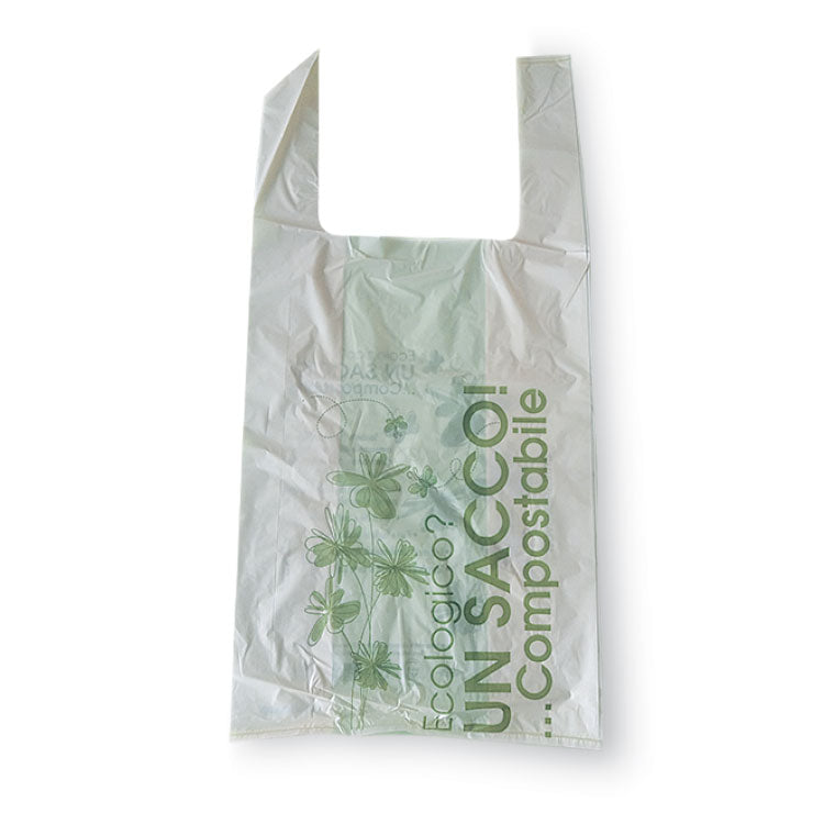 Shoppers Bio compostabili in Amido di mais 24x13x40 cm - Romano Biosolution
