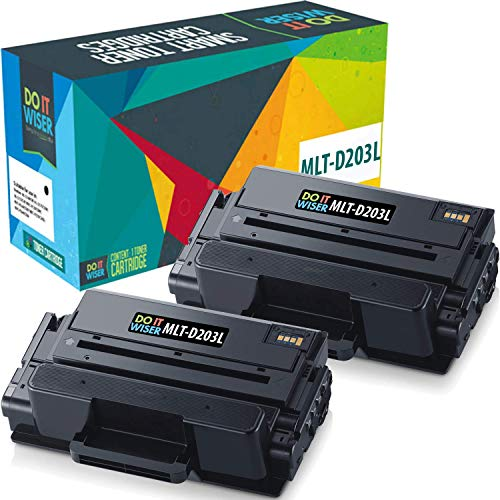 Compatible Samsung MLTD203L Toner Black 2 Pack High Yield by Do it Wiser