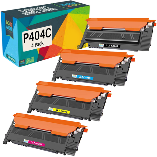 Compatible Samsung CLT-P404C Toner 4 Pack by Do it Wiser