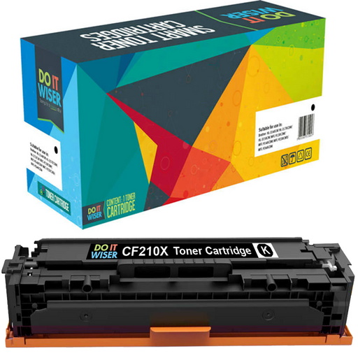 Compatible HP LaserJet Pro 200 Color M251nw Toner Black High Yield by Do it Wiser