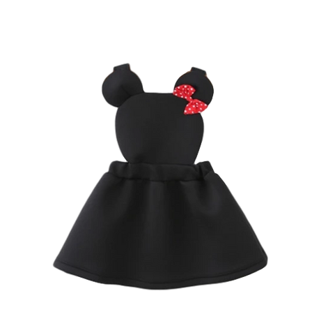 Cartoon Minnie Bow Sleeveless Dress