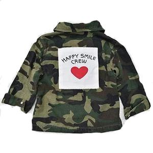 Camo and Hearts Cargo Jacket
