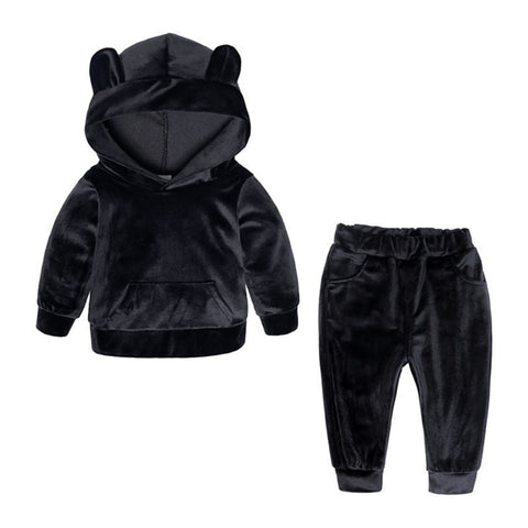 Black Bear Velvet Set
