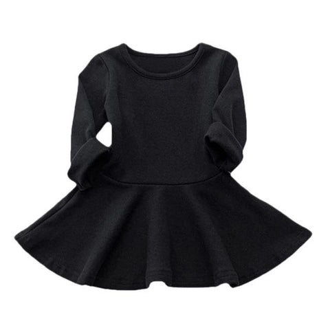 The Playful Sweater Dress - Black