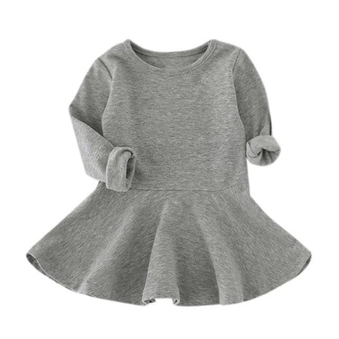 The Playful Sweater Dress - Grey