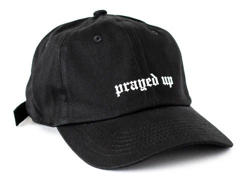 Prayed Up Hat - Clean Black