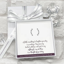Load image into Gallery viewer, Sterling Silver Stars Earline Earrings Personalised Gift Box - Various Thoughtful Messages