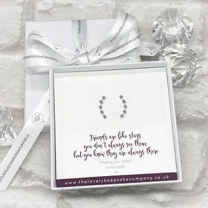 You added Sterling Silver Stars Earline Earrings Personalised Gift Box - Various Thoughtful Messages to your cart.