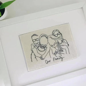 Family Photo Embroidery Art