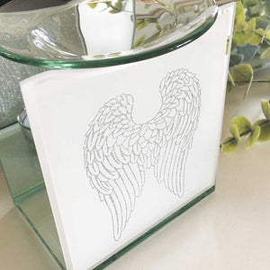 Remembrance Essential Oil Diffuser, Glass, Angel Wings Motif