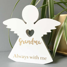 Load image into Gallery viewer, Personalised Wooden Freestanding Memorial Angel