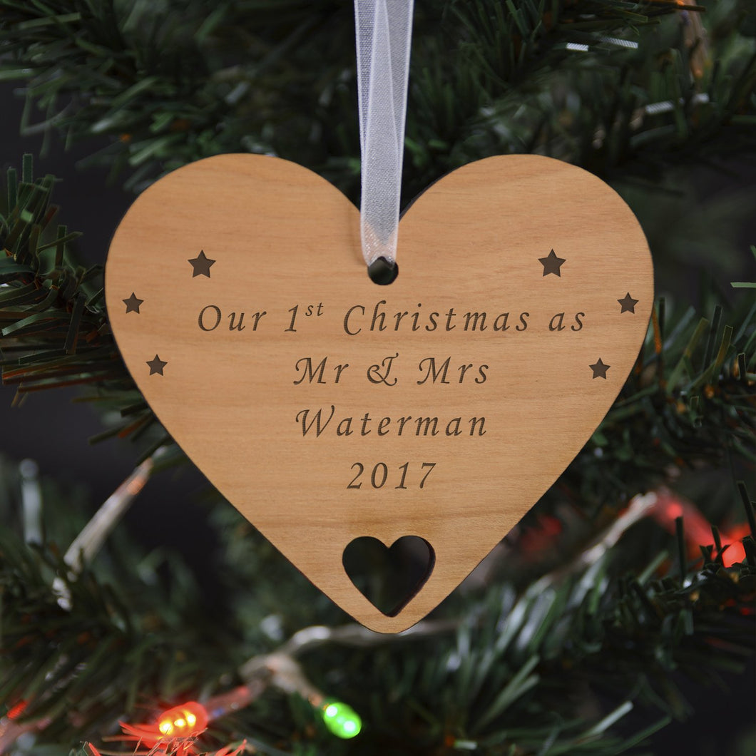 Personalised Wooden Hanging Decoration - Any message