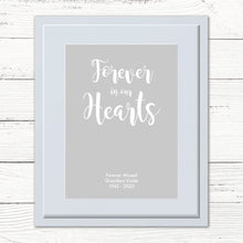 Load image into Gallery viewer, Personalised 'Forever in our hearts' Print