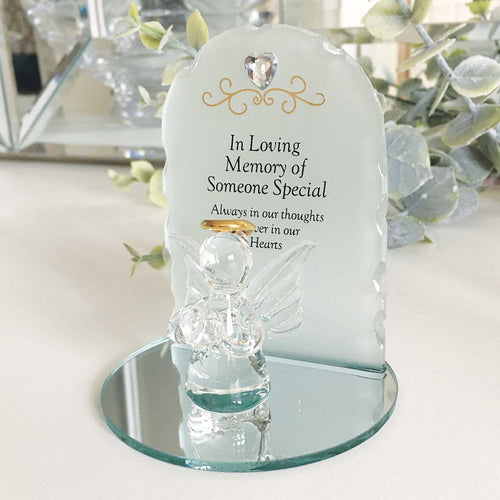 In Loving Memory Of Someone Special Glass Angel Ornament