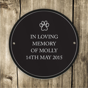 Personalised Indoor or Outdoor Pet Plaque