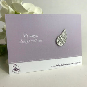 You added 'My Angel Always With Me' Angel Wing Token to your cart.