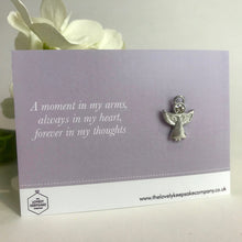 Load image into Gallery viewer, 'A Moment in my Arms' Angel Pin