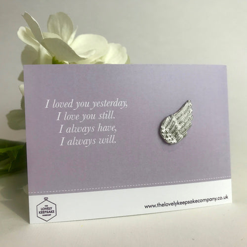 'I Loved You Yesterday' Angel Wing Token