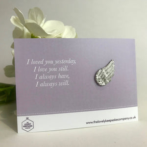 You added 'I Loved You Yesterday' Angel Wing Token to your cart.