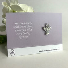 Load image into Gallery viewer, 'Never a moment shall we be apart' Angel Pin