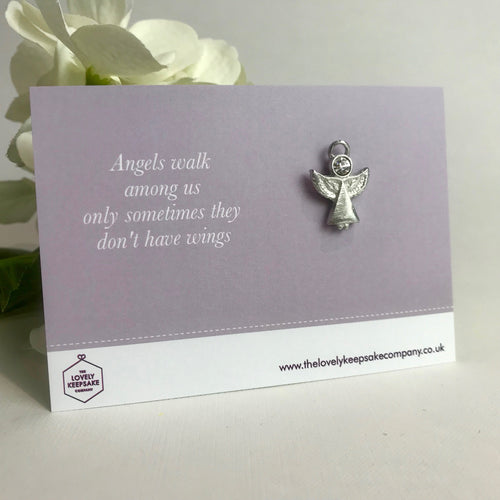 'Angels Walk Among Us' Angel Pin