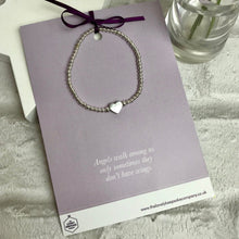 Load image into Gallery viewer, Heart Charm Bracelet with Quote Card - Various Thoughtful Quotes