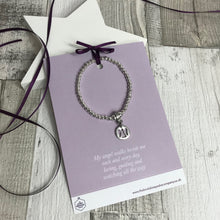 Load image into Gallery viewer, Angel Bracelet with Quote Card - Various Thoughtful Quotes
