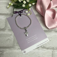 Load image into Gallery viewer, Angel Diamante Bracelet with Quote Card - Various Thoughtful Quotes