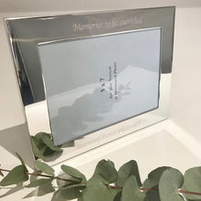 Load image into Gallery viewer, Personalised Silver Plated Frame Engraved with Any Message or Sentiment