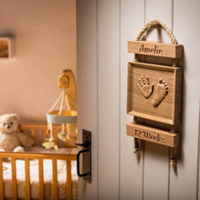 Load image into Gallery viewer, Solid Oak Ladder Handprint Carving