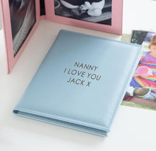 Load image into Gallery viewer, Personalised Leather Keepsake Photo Frame