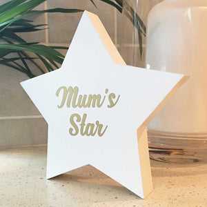 Personalised 'Forever Watching Over You' Wooden Freestanding Memorial Star