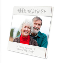 Load image into Gallery viewer, Personalised Silver Memories Square 6x4 Photo Frame
