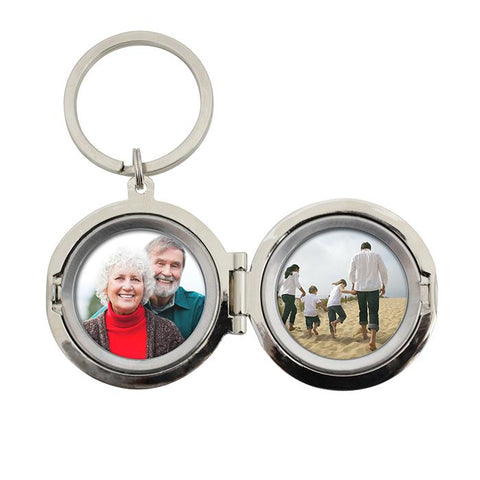 Personalised Round Photo Keyring - Any Message/Occasion