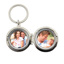 Load image into Gallery viewer, Personalised Round Photo Keyring - Any Message/Occasion