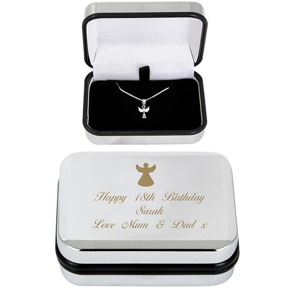 Angel Necklace in Personalised Keepsake Box