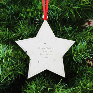 You added Personalised Christmas Tree Decoration, Metal Star to your cart.