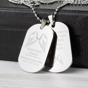 You added Personalised Guardian Angel Stainless Steel Double Dog Tag Necklace to your cart.