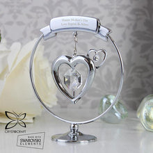 Load image into Gallery viewer, Personalised Crystocraft Heart Ornament