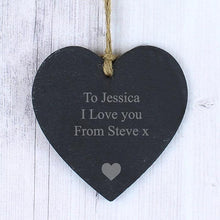 Load image into Gallery viewer, Personalised Slate Heart